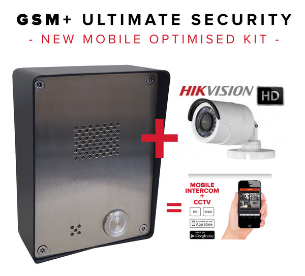 GSM intercom with HD IP CCTV for mobile phone, tablet, PC and MAC live CCTV and intercom