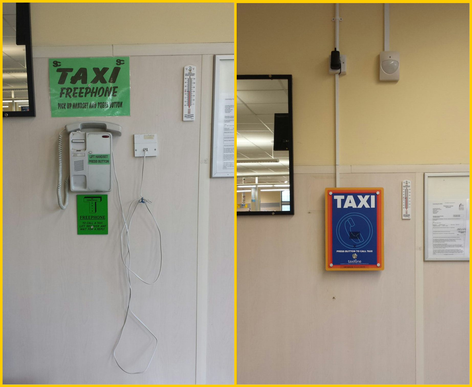 GSM Taxi Phone (3G) Wall Mount for Indoor Locations