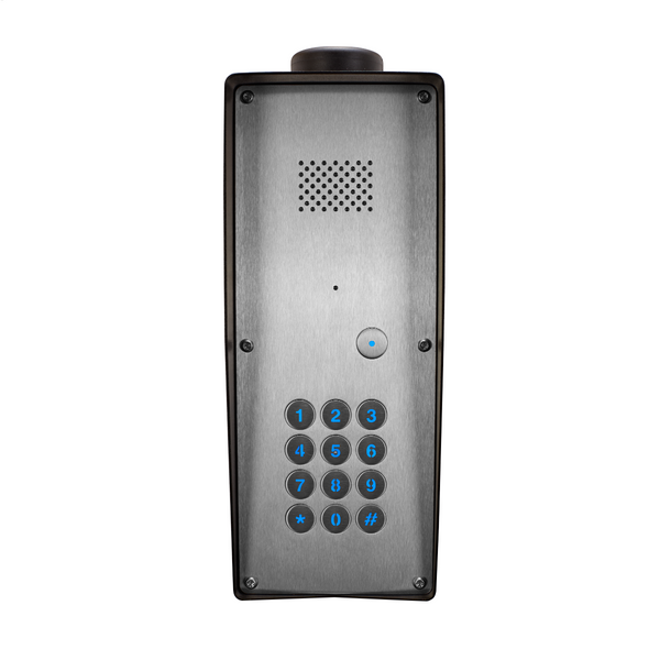 GSM Intercom with keyless entry (3G) Anti-vandal 1 way for 1 Property - Control Freq