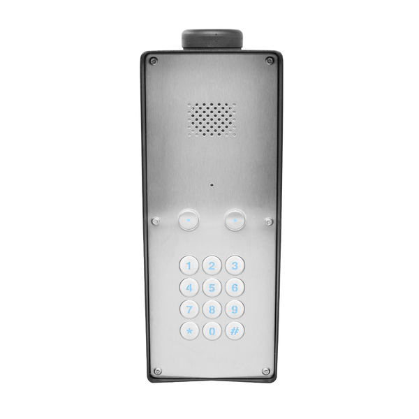 GSM Intercom with keypad (3G) Anti-vandal 2 way for 2 properties - Control Freq