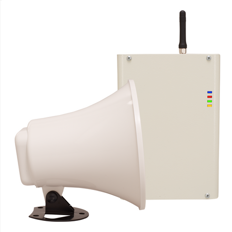 3G GSM Loudspeaker for Remote Dial-In Voice-Over Warning