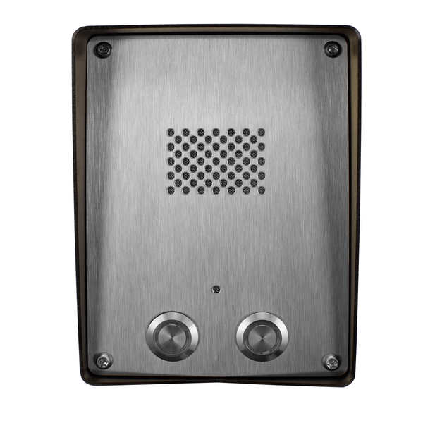 GSM Intercom (3G) Anti-vandal 2 way for 2 properties - Control Freq
