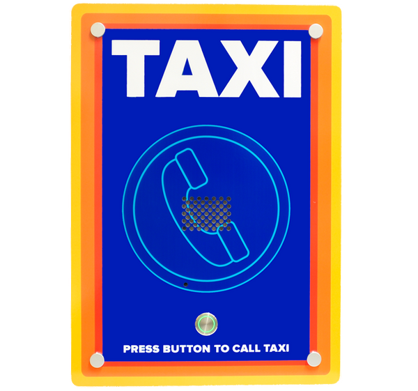 Wall mounted custom designed GSM taxi freephone ideal for supermarkets - Control Freq