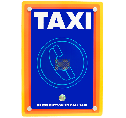 Wall mounted custom designed GSM taxi freephone ideal for supermarkets