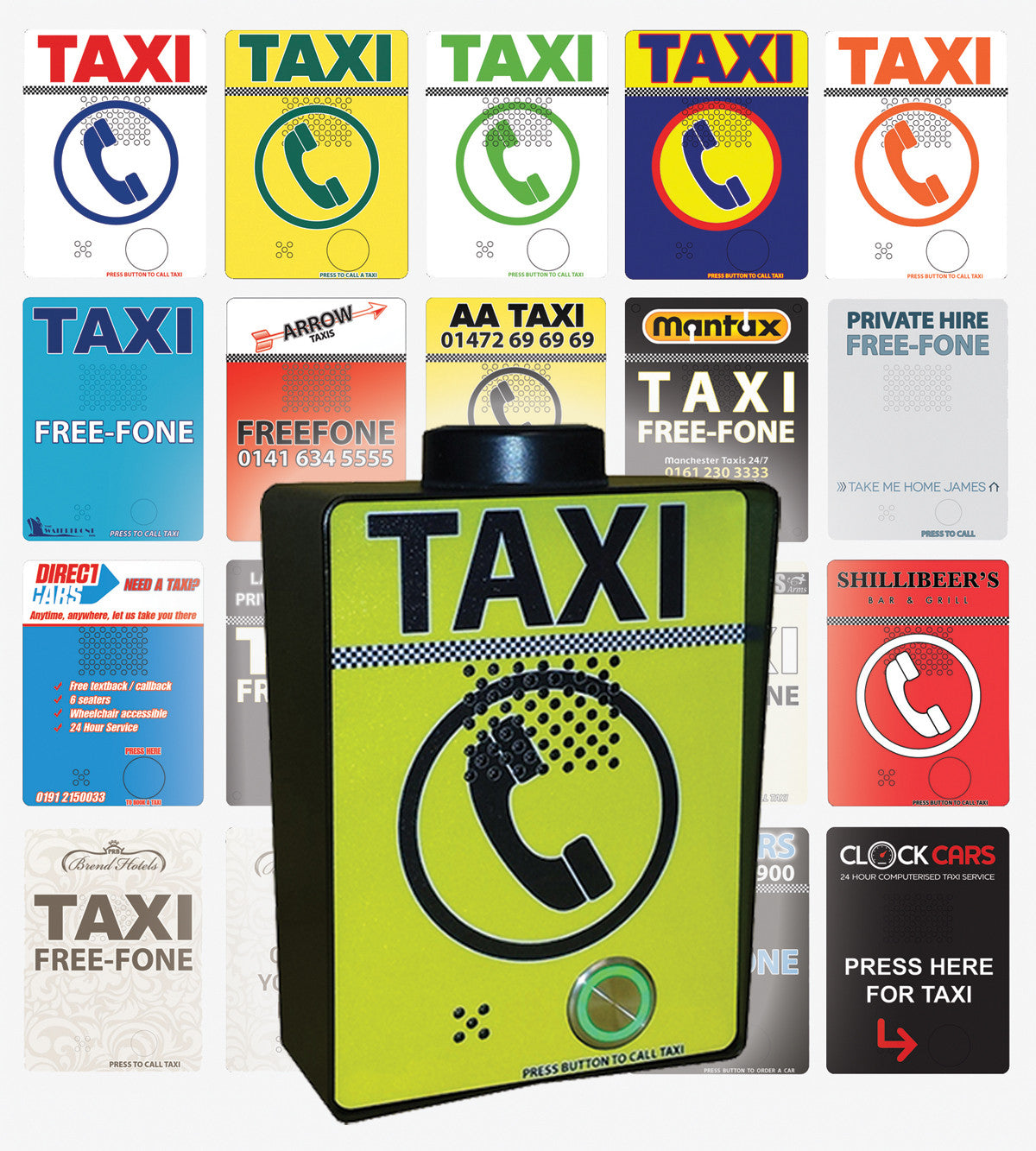 3G GSM Taxi Freephone - Anti-Vandal incl. Custom Design