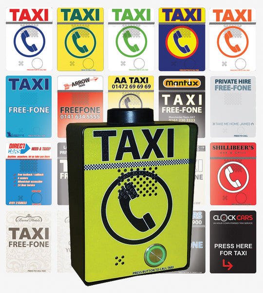 GSM Taxi Freephone (3G) Anti-Vandal Press Button incl. Custom Design - Control Freq