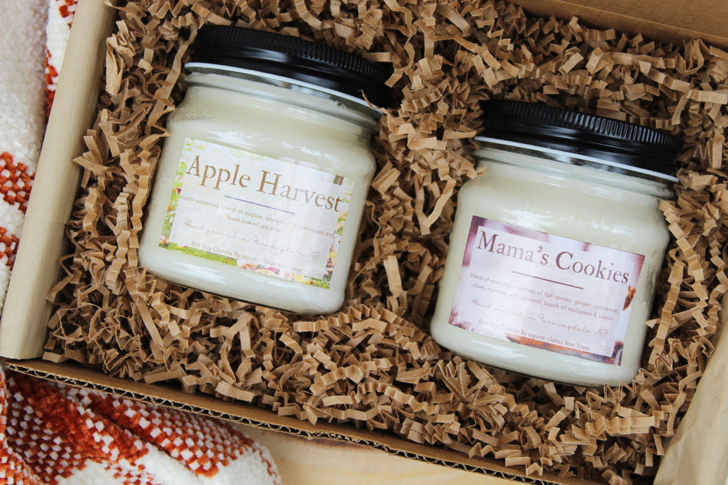 Mama's Cookies & Apple Harvest Soy Candle Bundle