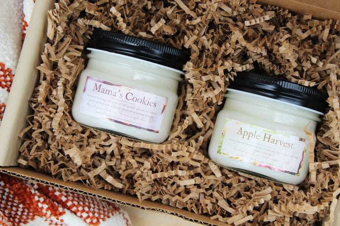 Mama's Cookies & Apple Harvest Soy Candle Bundle - Small