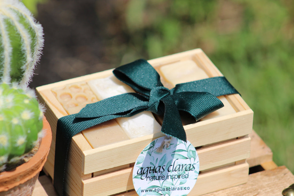 Organic Soap Wood Box Sampler