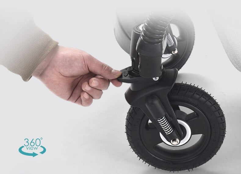 Big enough tires in stroller with car seat, for comfortable walk