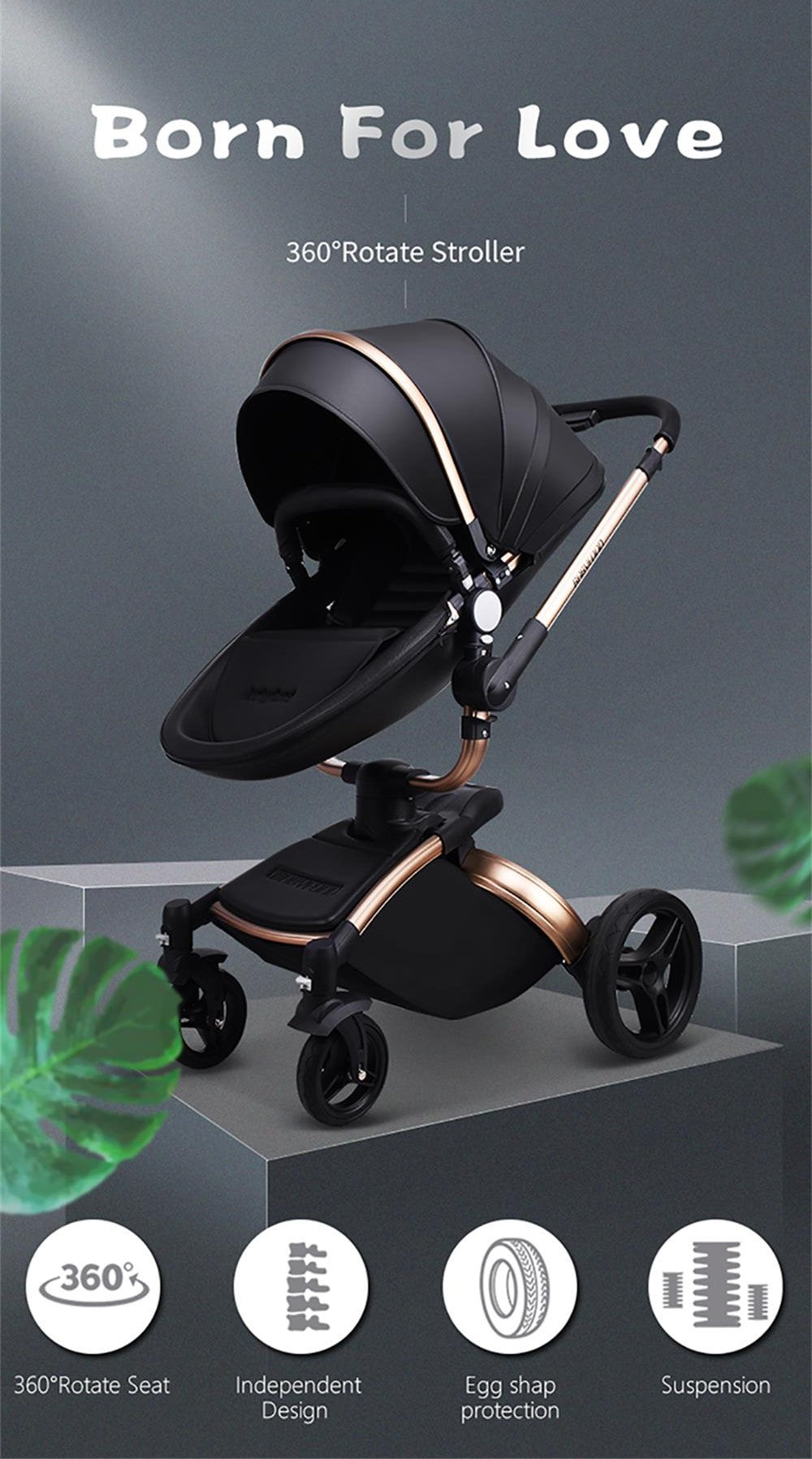 Sroller with car seat 3 in 1 free shipping to canada usa uk france germany and spain best stroller 2019 and 2020