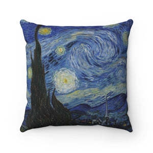 Starry Night by van Gogh - Spun Polyester Square Pillow