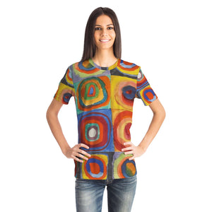Squares with Concentric Circles by Kandinsky - Unisex T-Shirt
