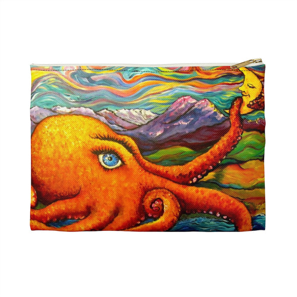 Octopi Port Angeles by Tocher - Flat Accessory Pouches