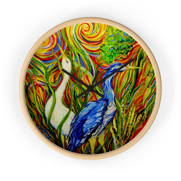 Wetlands by Tocher Wall clock