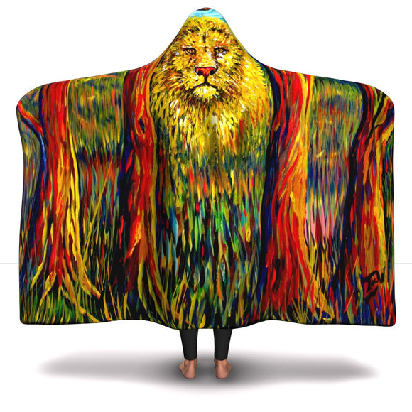 Soul Lion by Tocher - Hooded Blanket