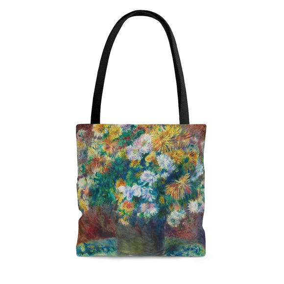 Chrysanthemums by Renoir - Tote Bags in 3 sizes