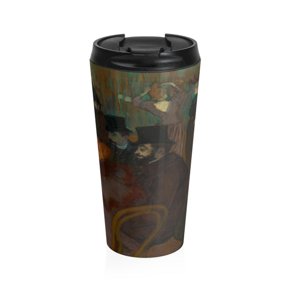 At the Moulin Rouge by Toulouse-Lautrec - Stainless Steel Travel Mug