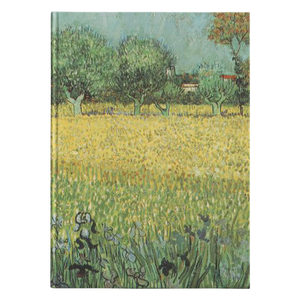 View of Arles with Irises by van Gogh - Hardcover Journal