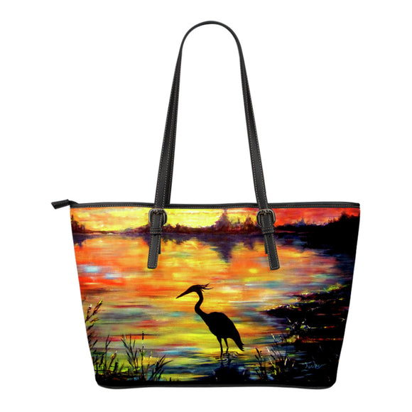 Heron Sunset by Tocher - Eco-Leather Tote Bag