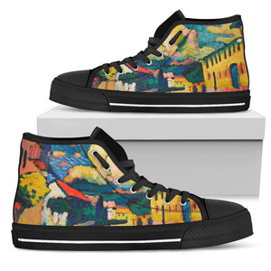 Dorfstrasse by Kandinsky - Men's High Top Shoes