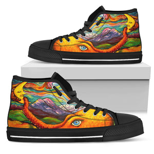 Octopi Port Angeles by Tocher - Men's High Top Shoes