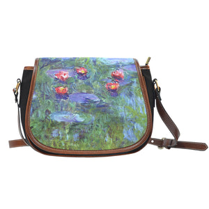 Water Lilies by Monet - Saddle Bag Purse