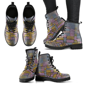 Tableau No. 2 Composition No. 5 by Mondrian - Women's Eco Leather Boots