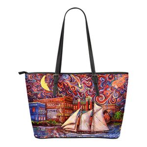 Pt Townsend State of Mind by Tocher - Eco Leather Tote Bag