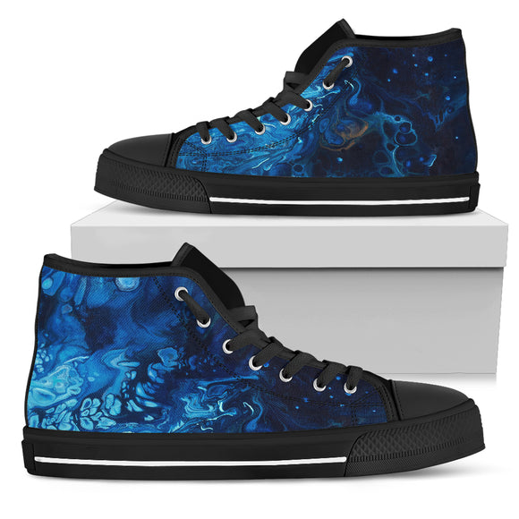 Introspection by DeScala - Men's High Top Shoes