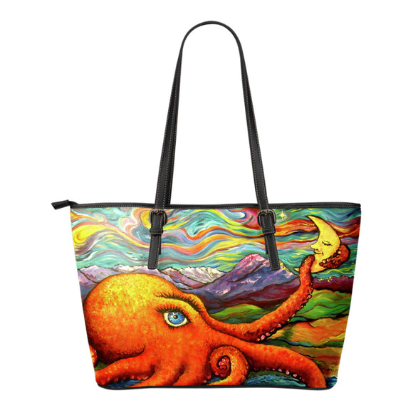 Octopi Port Angeles by Tocher - Eco Leather Tote Bag