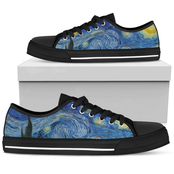 Starry Night by van Gogh - Women's Low Top Shoes