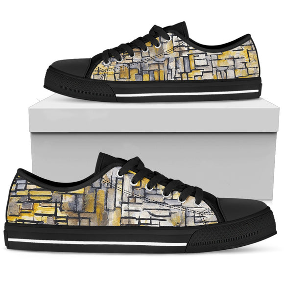 Tableau 2 Composition VII by Mondrian - Men's Low Top Shoes