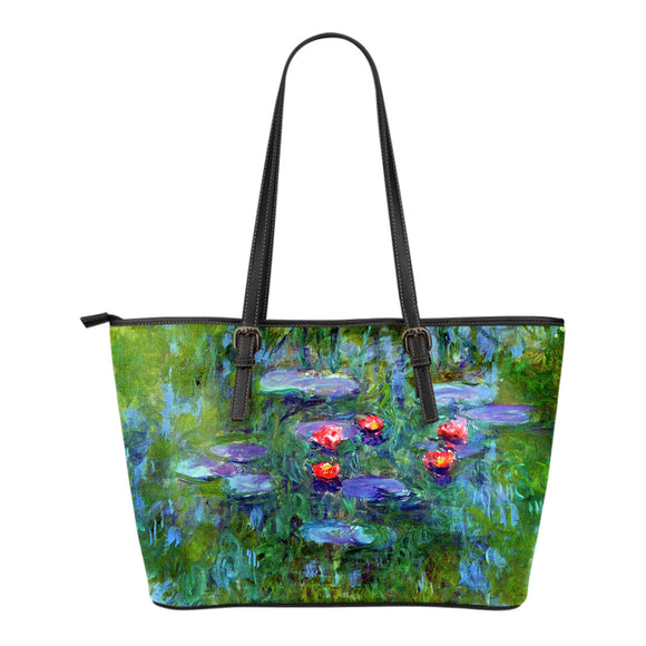 Water Lilies by Monet - Eco Leather Tote Bag