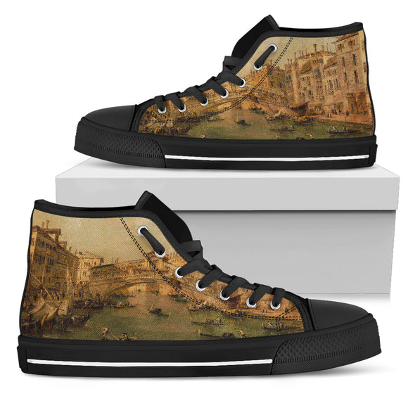 Venice: The Rialto by Guardi, Men's High Top Shoes