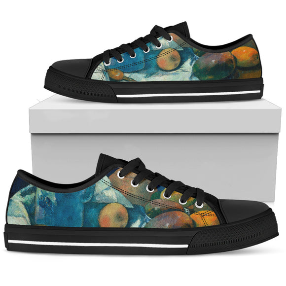 Still Life with Teapot by Gauguin - Men's Low Top Shoes