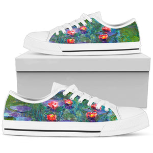 Water Lilies by Monet - Men's Low Top Shoes
