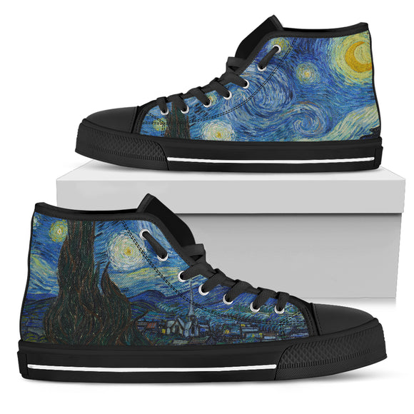 Starry Night by van Gogh - Men's High Top Shoes