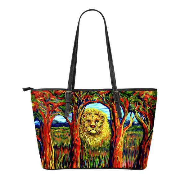 Soul Lion by Tocher - Eco Leather Tote Bag