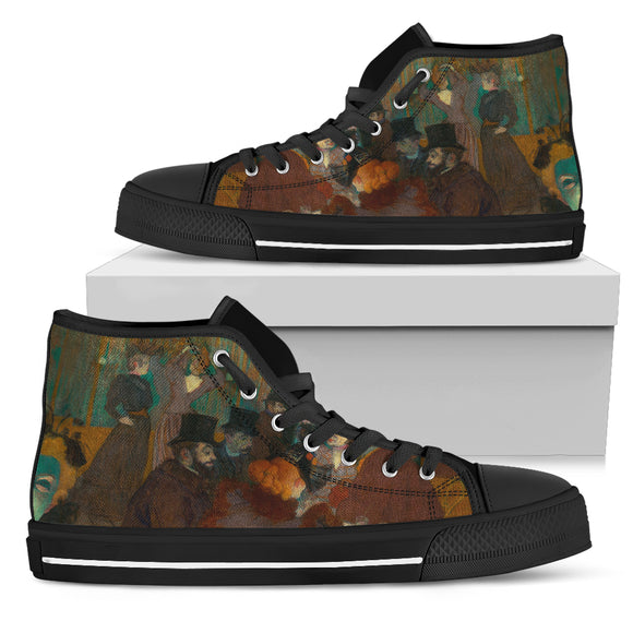 At the Moulin Rouge by Talouse-Lautrec - Women's High Top Shoes