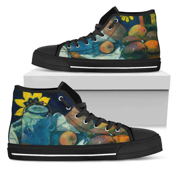 Still Life with Teapot by Gauguin - Women's High Top Shoes