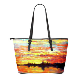 Sunset (from Heron Sunset by Tocher) - Eco-Leather Tote Bag