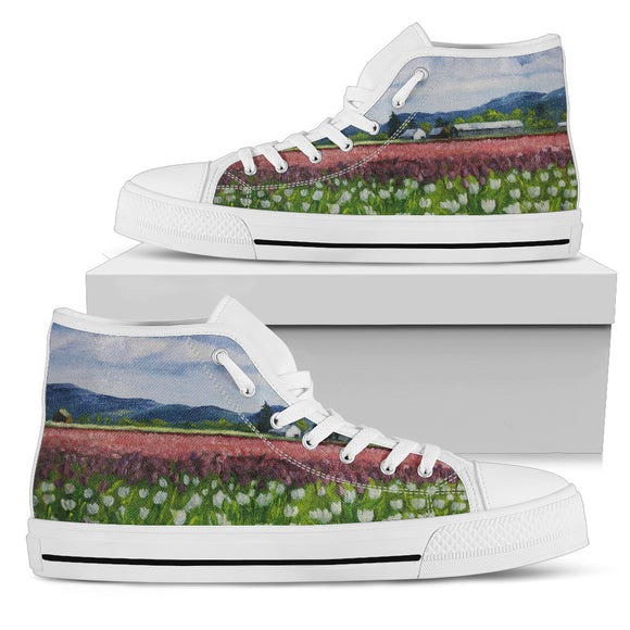 Skagit Tulips by Pierce - Women's High Top Shoes