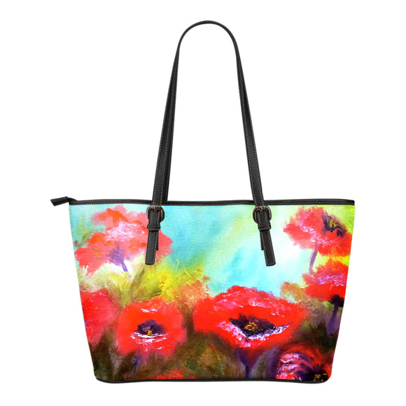 Poppies by Lumens - Eco-Leather Tote Bag