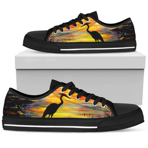 Heron Sunset by Tocher - Men's Low Top Shoes