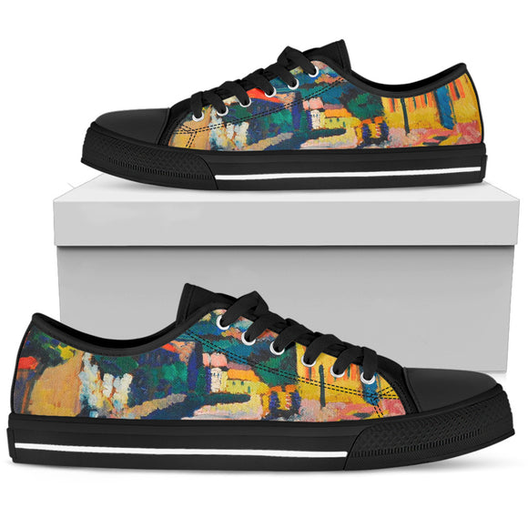 Dorfstrasse by Kandinsky - Women's Low Top Shoes