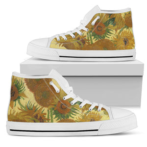 Sunflowers by van Gogh - Women's High Top Shoes