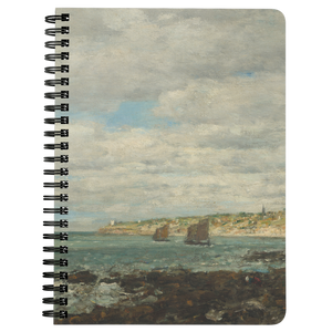 Coast of Brittany by Boudin - Spiralbound Notebook