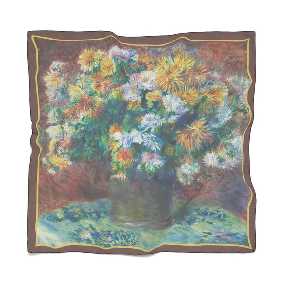 Chrysanthemums by Renoir - Poly Scarves