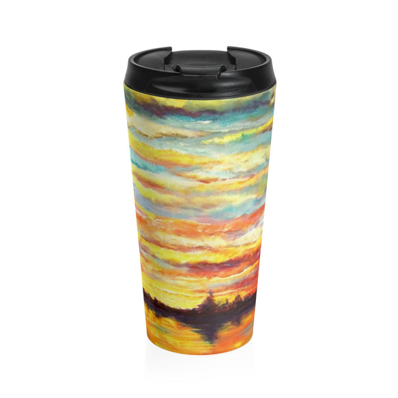 Sunset (from Heron Sunset by Tocher) - Stainless Steel Travel Mug